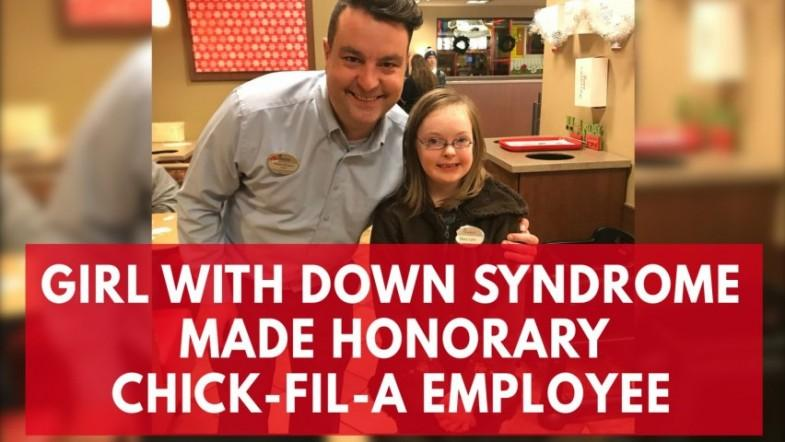 Watch this delighted little girl after making an honorary employee of Chick-Fil-A in Memphis