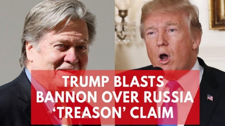 He lost his mind: Trump blasts Steve Bannon for calling sons Russia meeting treasonous
