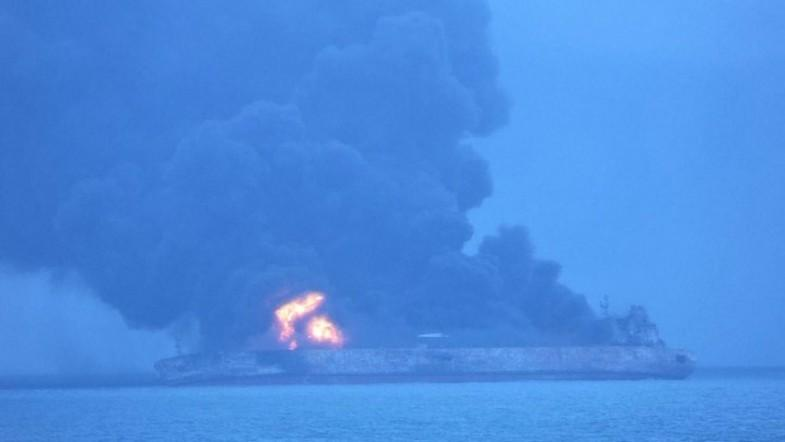 Iranian tanker collides with Chinese vessel