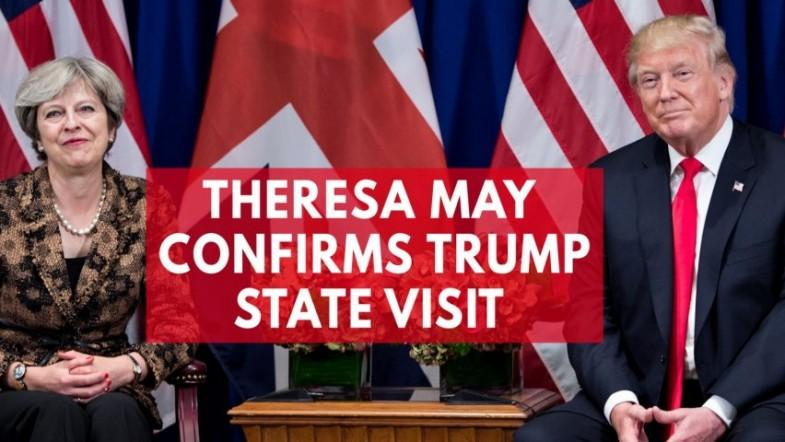 Theresa May confirms that Trump will be visiting the United Kingdom