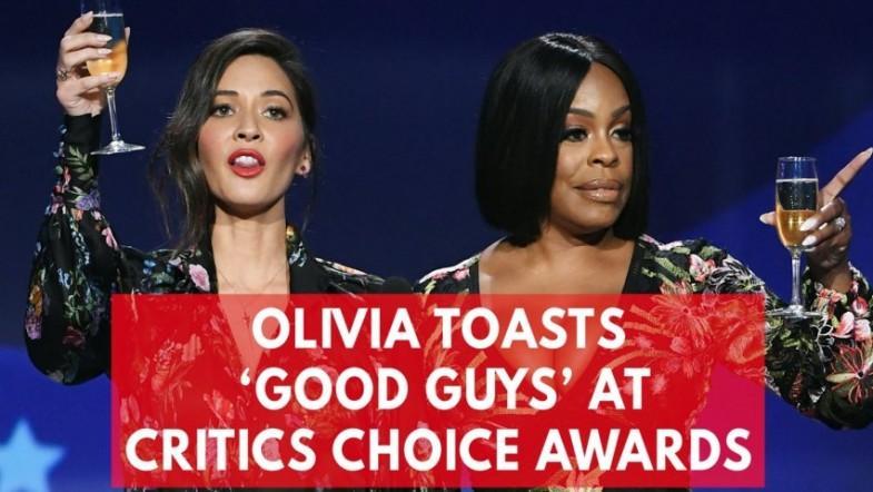 Olivia Munn and Niecy Nash sarcastically toast the good guys at Critics Choice Awards