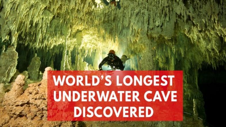 Worlds biggest ever underwater cave filled with ancient Mayan artefacts discovered in Mexico