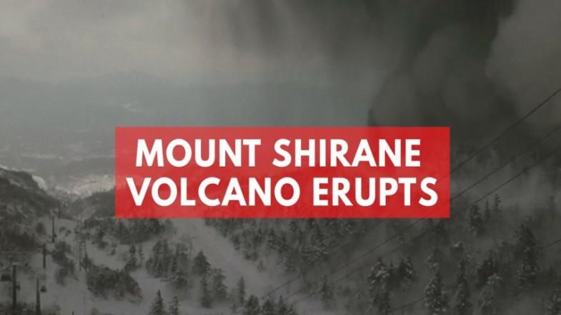 Soldier killed and skiers injured after Mount Shirane volcano erupts in Japan triggering avalanche