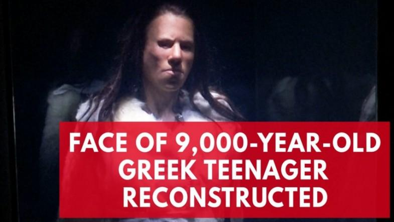 Scientists reconstruct the face of a 9,000-year-old Greek teenager
