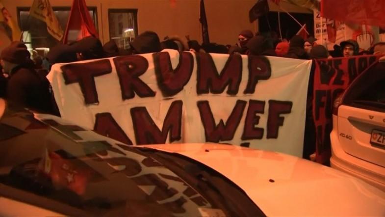 Thousands march against Donald Trump in Zurich