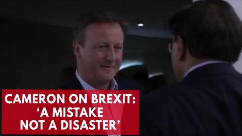 David Cameron caught saying Brexit is a
