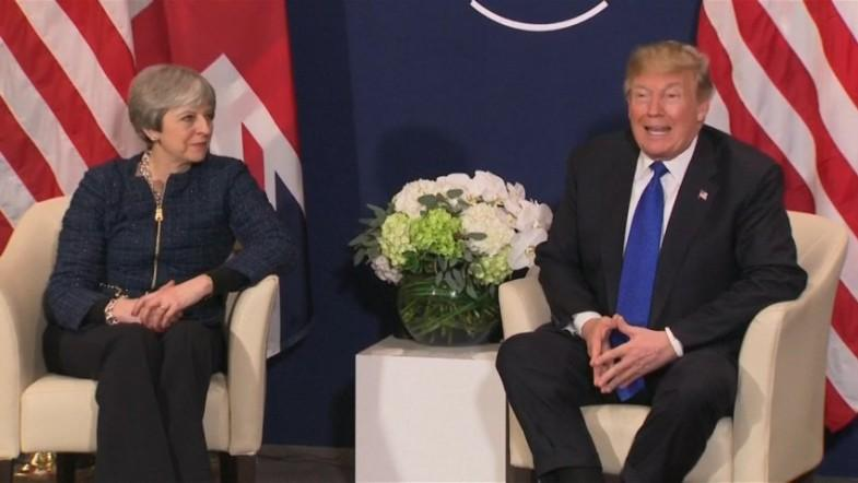 President Trump vows to be there for British Prime Minister Theresa May no matter what