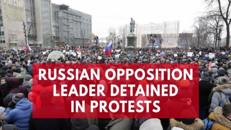 Russian opposition leader Alexei Navalny arrested as thousands protest against Putin