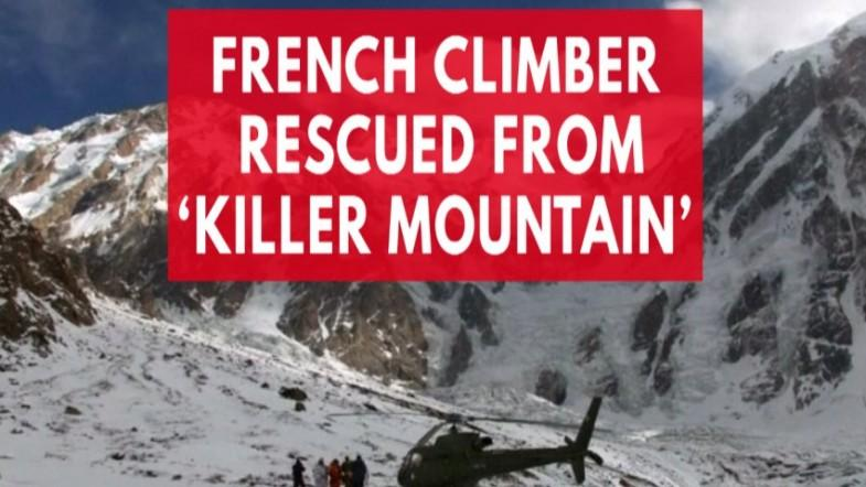 A climber was rescued from killer mountain, but her partner is still missing