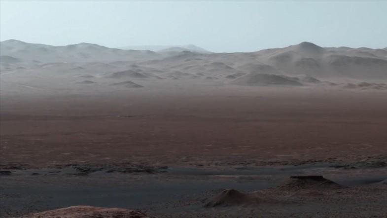 Mars rovers view of the Gale crater