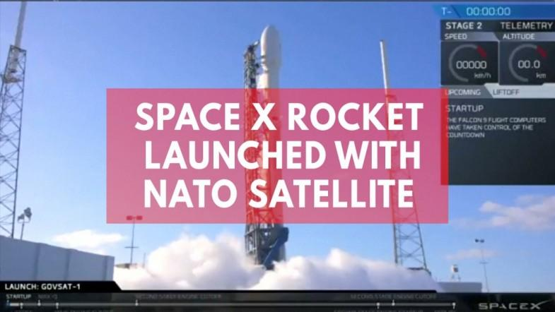SpaceX rocket launched with satellite for NATO surveillance