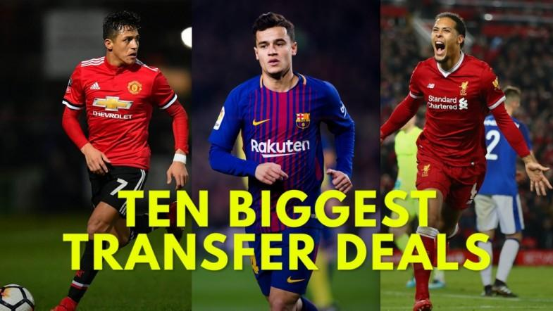 Ten biggest Premier League January transfer deals of 2018