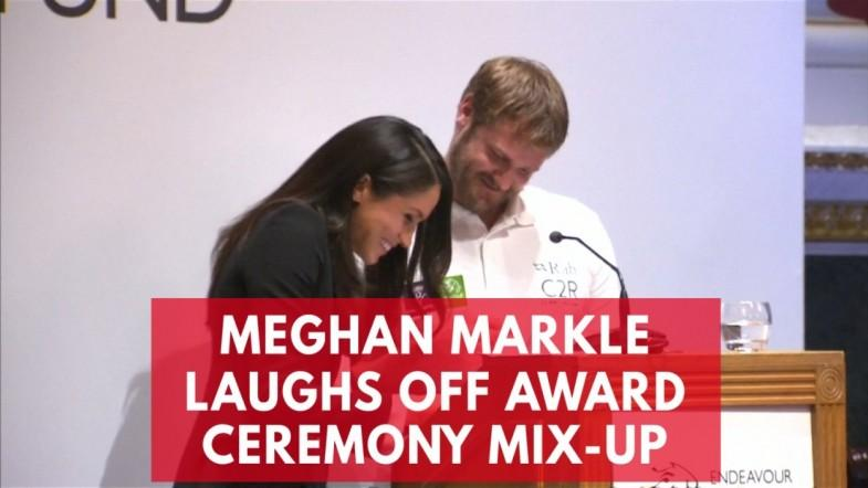 Meghan Markle laughs off awards ceremony mix-up