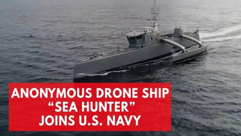 Autonomous drone ship Sea Hunter joins US Navy