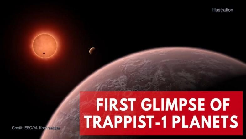 First glimpse of TRAPPIST-1 planets shows some could hold more water than Earth