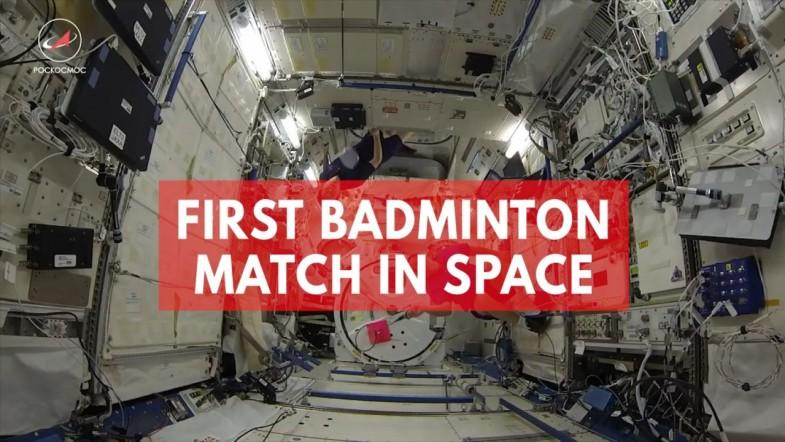 Watch: Astronauts play space badminton for the first time ever on the International Space Station