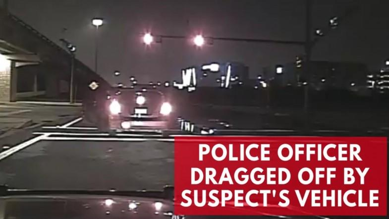 Intoxicated driver speeds away, drags police officer with him