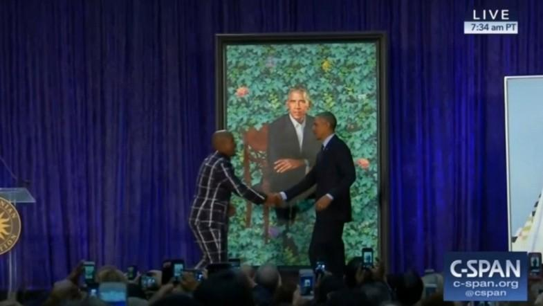 Barack and Michelle Obama presidential portraits unveiled