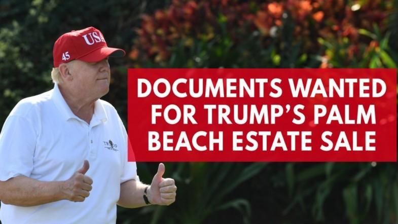 A Democratic senator has questions about Trumps palm beach estate sale in 2008