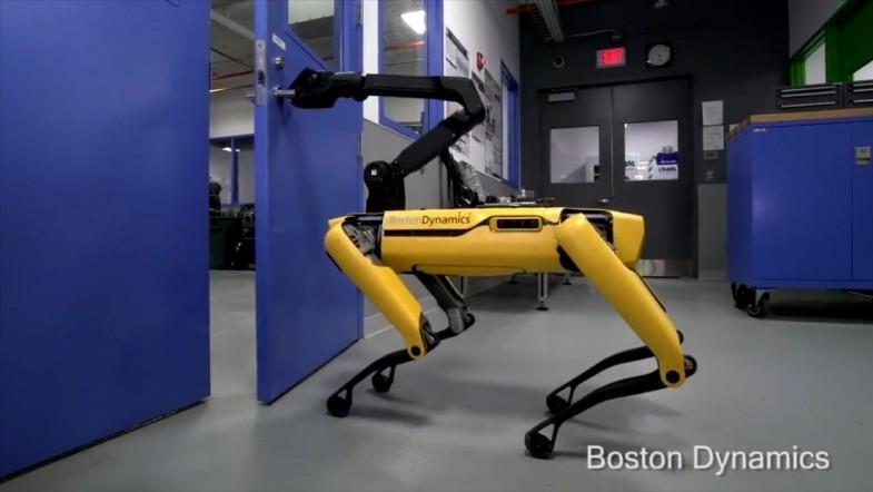 Watch Boston Dynamics new robot dog open doors