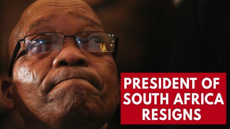 South Africas President Jacob Zuma resigns amid heavy pressure