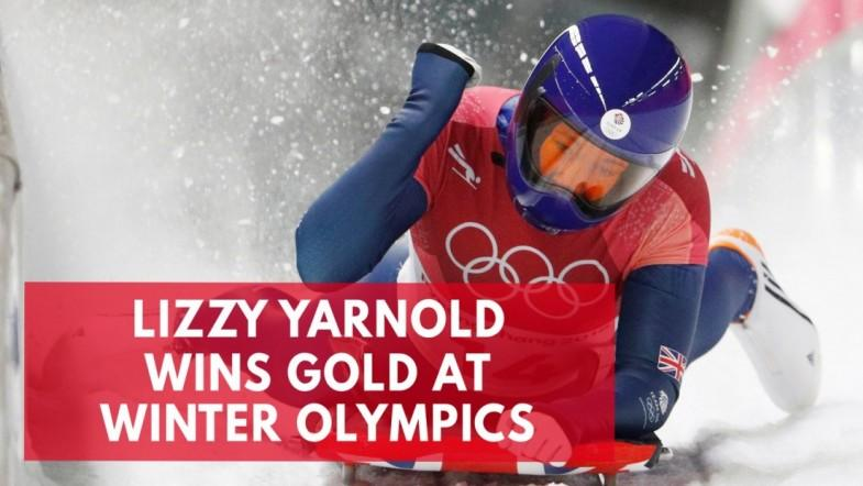 Lizzy Yarnold wins gold at Winter Olympics
