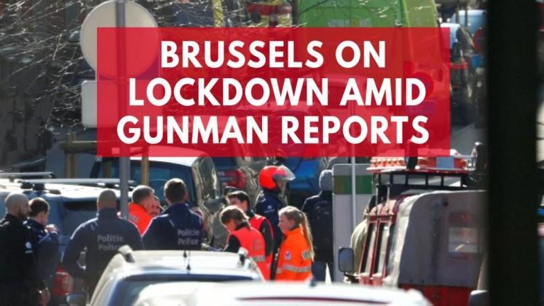 Brussels on lockdown amid gunman reports