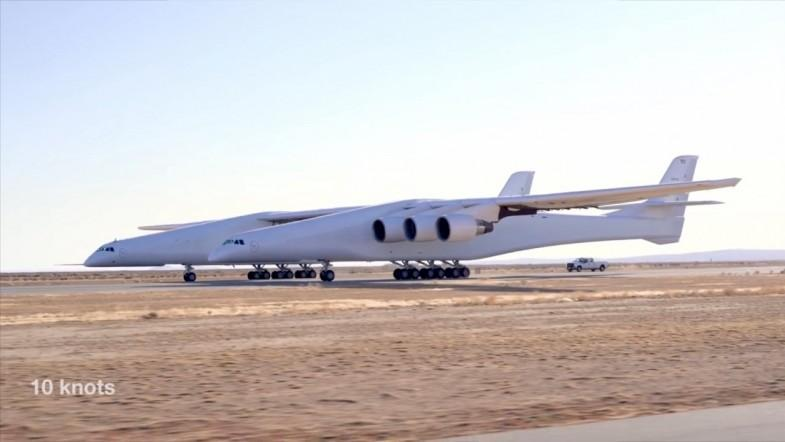 Watch Stratolaunch- The worlds biggest plane as it goes through its first taxi test