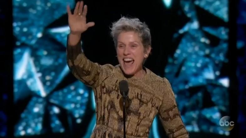 Oscars 2018 best actress winner Frances McDormand honors female filmmakers: Two words, Inclusion Rider