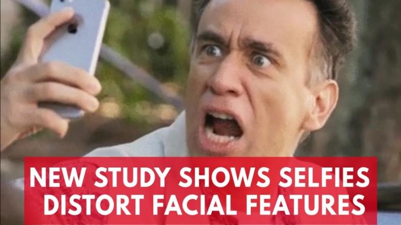 Taking selfies can distort your facial features, according to a new study