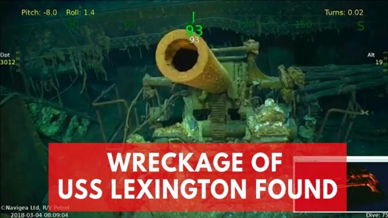Wreckage of USS Lexington, sunk during WWII, found in Coral Sea