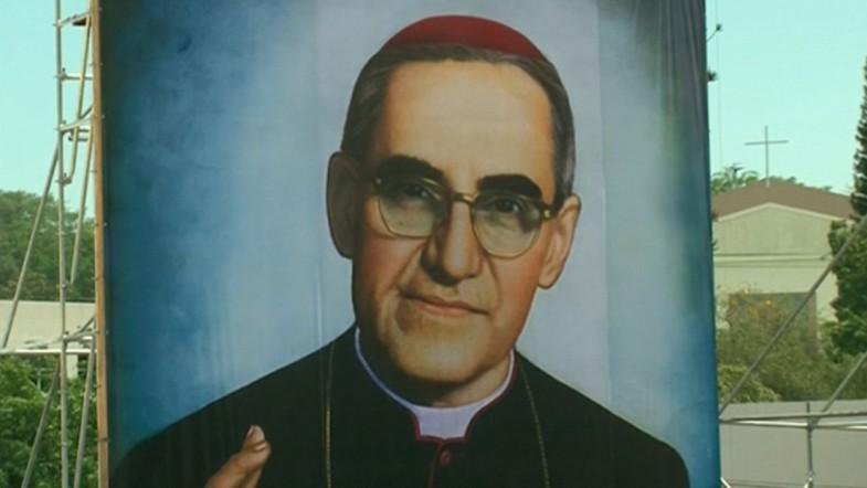 Salvadorans celebrate the beatification of Archbishop Óscar Romero nearly three years before his Canonisation