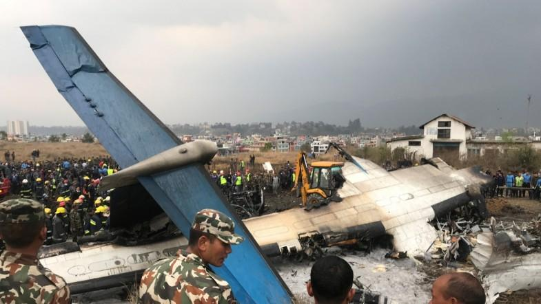 A passenger plane crashed at the Tribhuvan International Airport in Kathmandu, Nepal