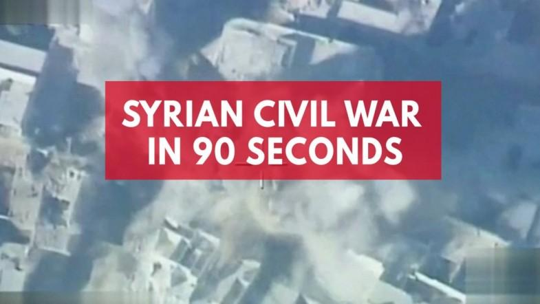 Syrian civil war in 90 seconds