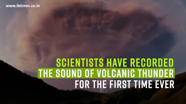 Scientists recorded the sound of volcanic thunder for the first time ever