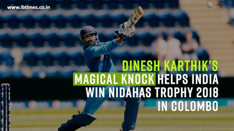 Dinesh Karthik's match-winning knock in Nidahas Trophy final
