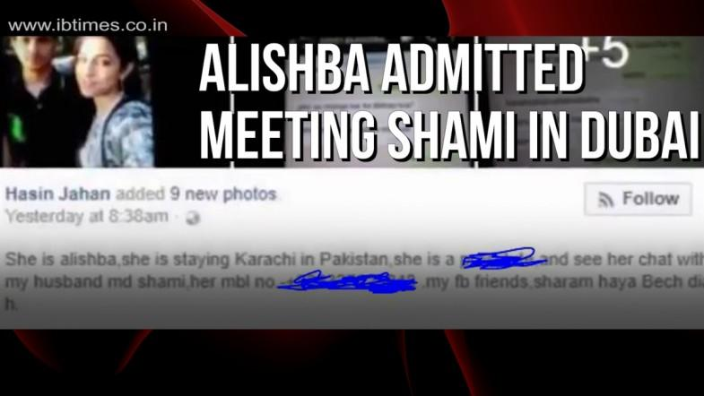 Alishba admitted meeting Shami in Dubai