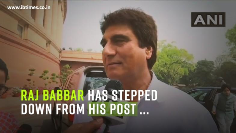 Raj Babbar steps down as UP Congress chief
