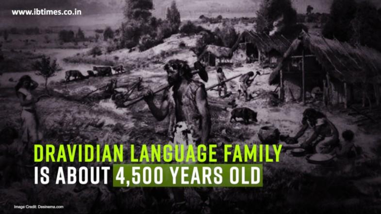 Dravidian language family is about 4,500 years old