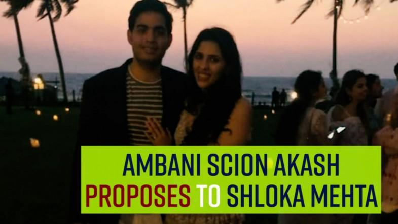 Ambani scion Akash proposes to Shloka Mehta