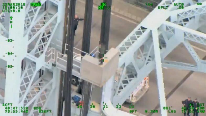 NYPD rescues man jumping from Triborough Bridge