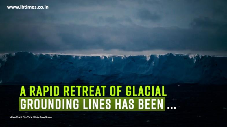 A rapid retreat of glacial grounding lines has been observed in Antarctica