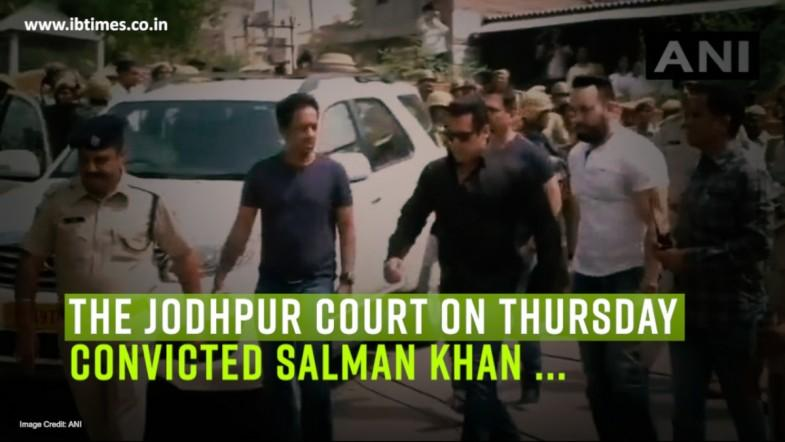 The Jodhpur Court convicted Salman Khan in the blackbuck poaching case,