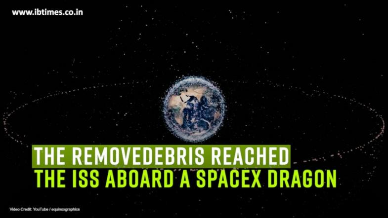 Experimental space junk collector reaches the ISS on board SpaceX Dragon