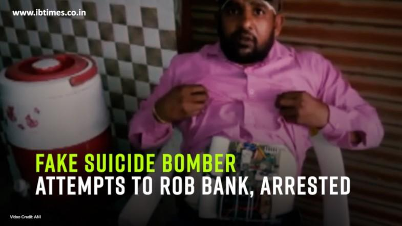 Fake suicide bomber attempts to rob bank