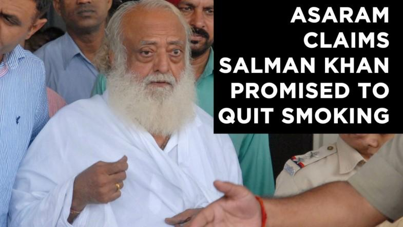 Asaram claims Salman Khan promised to quit smoking