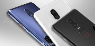 OnePlus 6, black, whit, blue, colors
