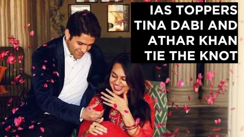 IAS toppers Tina Dabi and Athar Khan tie the knot