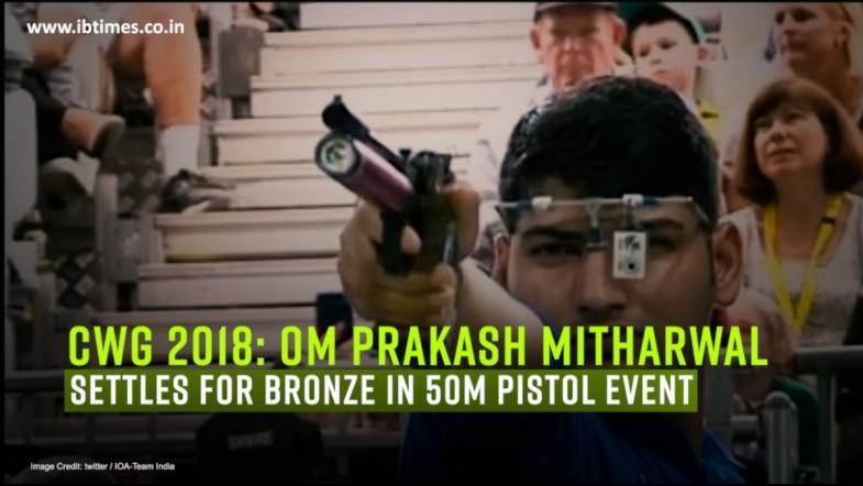 CWG 2018: Shooter Om Mitharval settles for bronze in 50m Pistol event