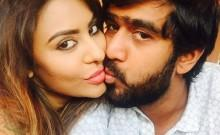 Sri Reddy's intimate moment with Abhiram Daggubati